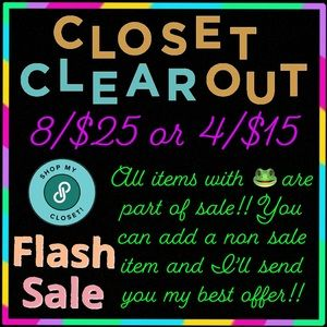 Closet CLEAROUT!!!!